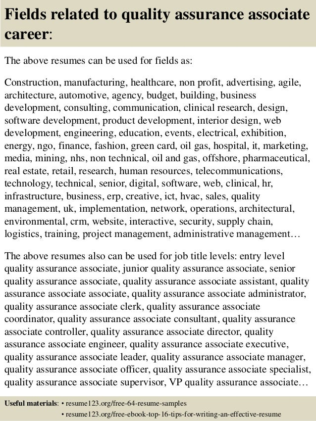 Quality Assurance Resume. Edw Tester Cover Letter Warehouse Cover ...