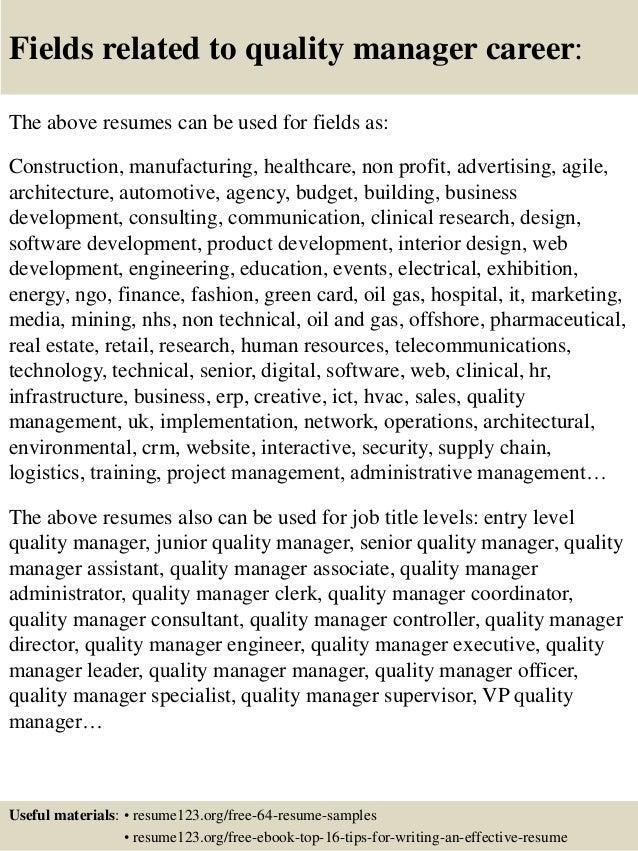 quality assurance manager cover letter - Muck.greenidesign.co