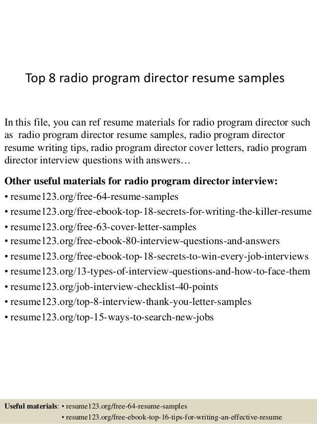 program director resumes