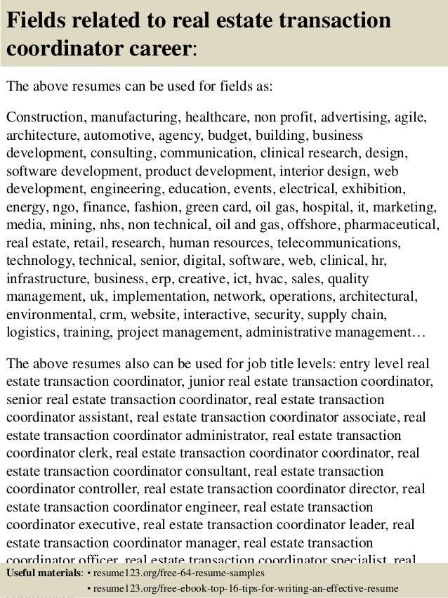 Sample Real Estate Resumes | Resume CV Cover Letter