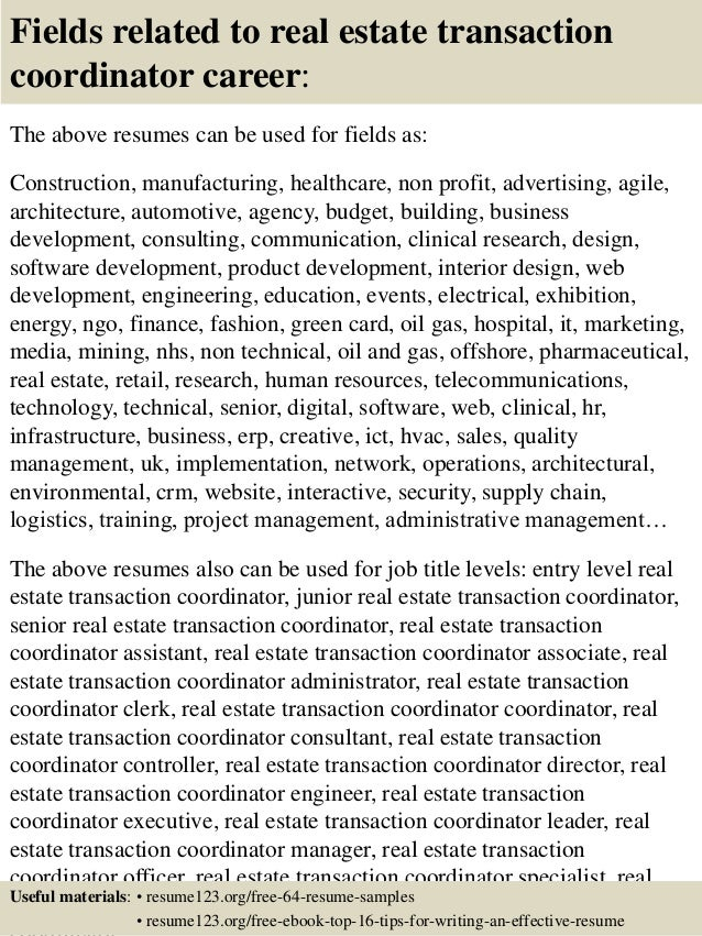 Real Estate Resumes Fields Related To Real Estate Top Real - Real estate resume samples