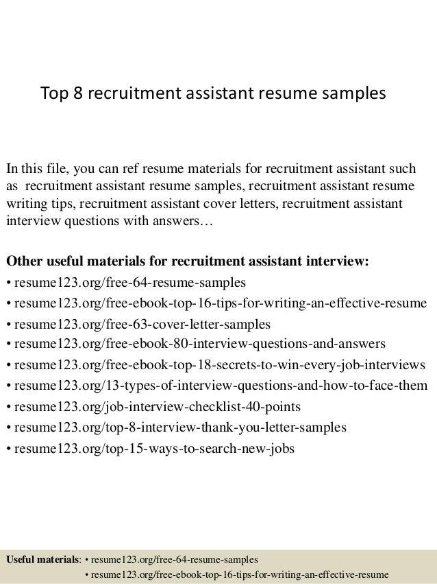 top8recruitmentassistantresumesamples1638jpgcb 1428107310 – Recruiting Manager Resume Template