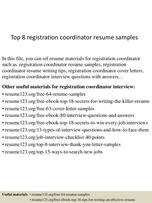 Amazing Resume Registration