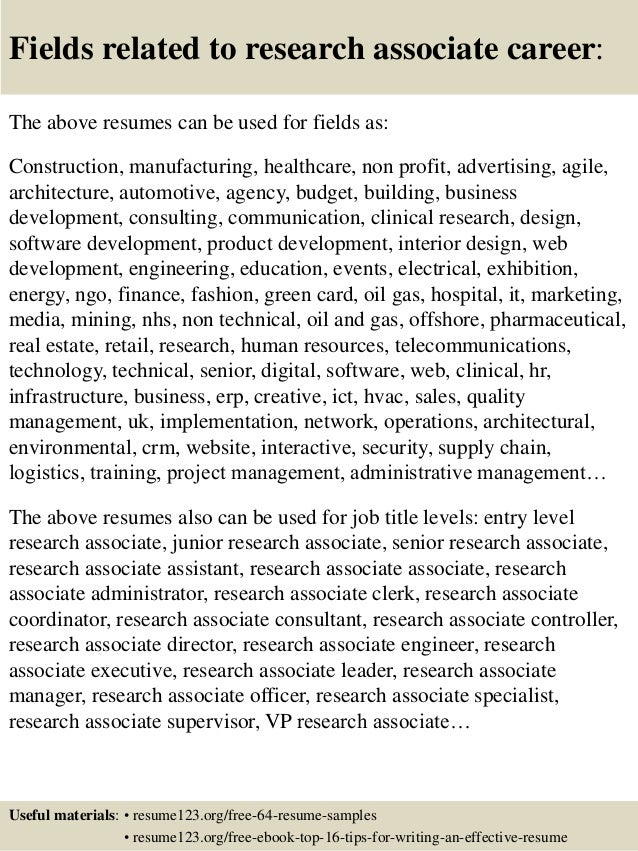 Research Resume Sample Design Synthesis Making Clinical Associate Is Sometimes Not Easy But Do