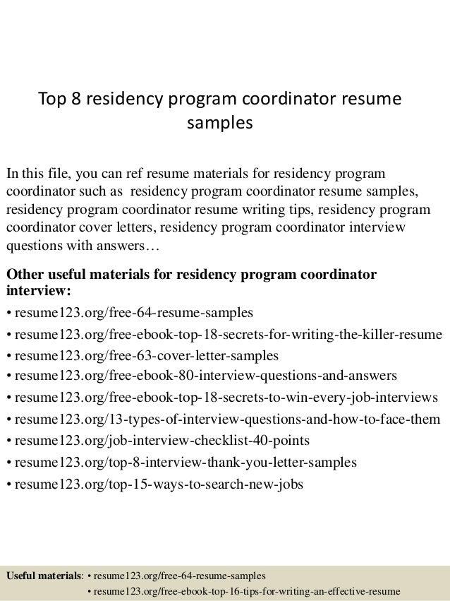 Application Letter Sample For Residency Training - Sample ERAS