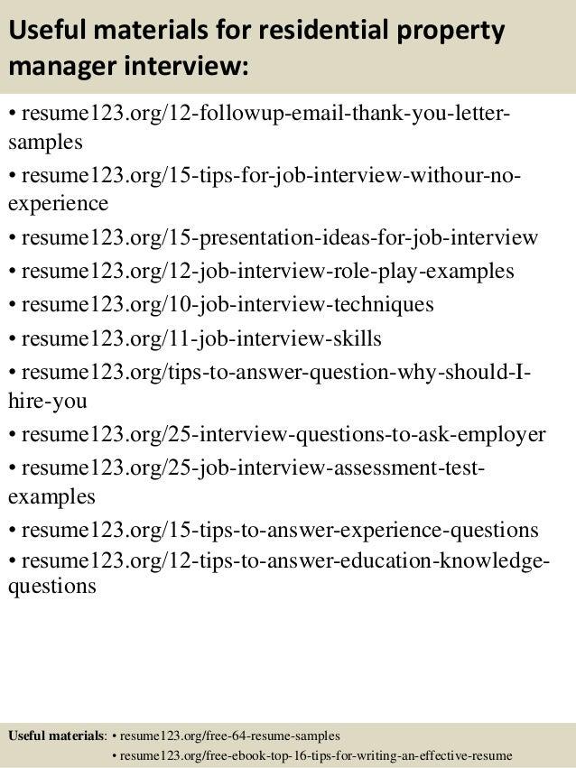 resume objective assistant property manager job description – Property Management Resume