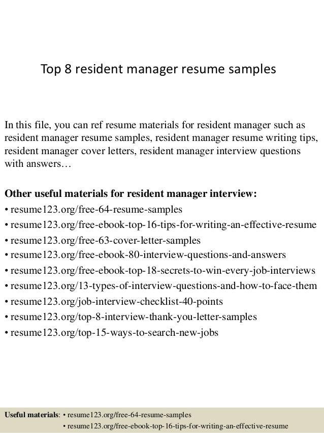 Top Resumes Samples   Resume CV Cover Letter