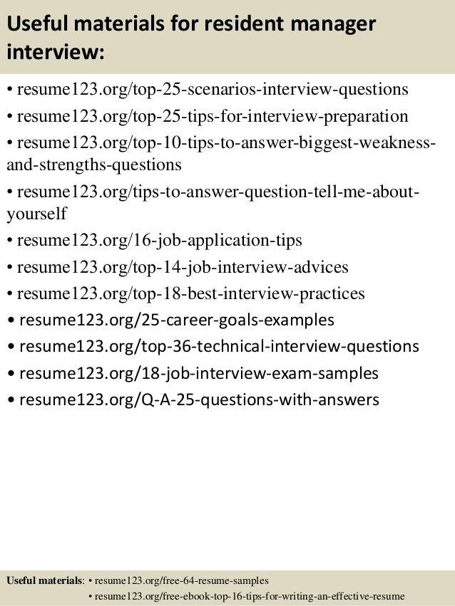 13 useful materials for resident - Resident Engineer Sample Resume