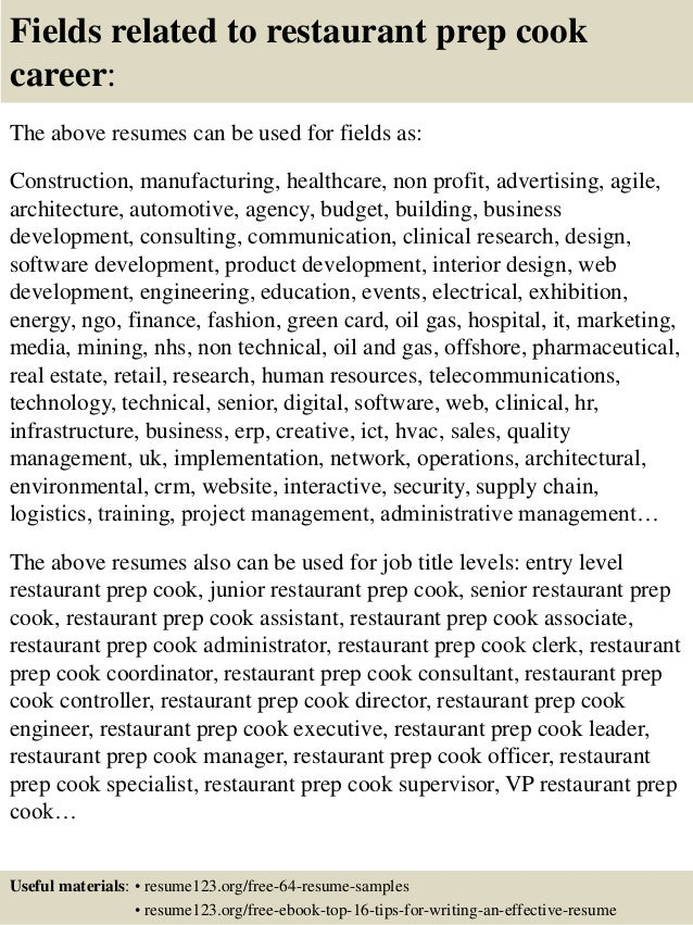 resume cook sample prep cook resume chef where chef best sample useful materials for restaurant prep - Prep Cook Resume