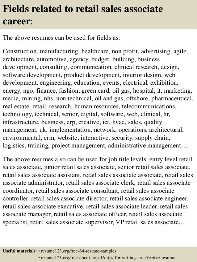 retail sales associate resume job volumetrics co entry level trendresume resume styles and resume templates
