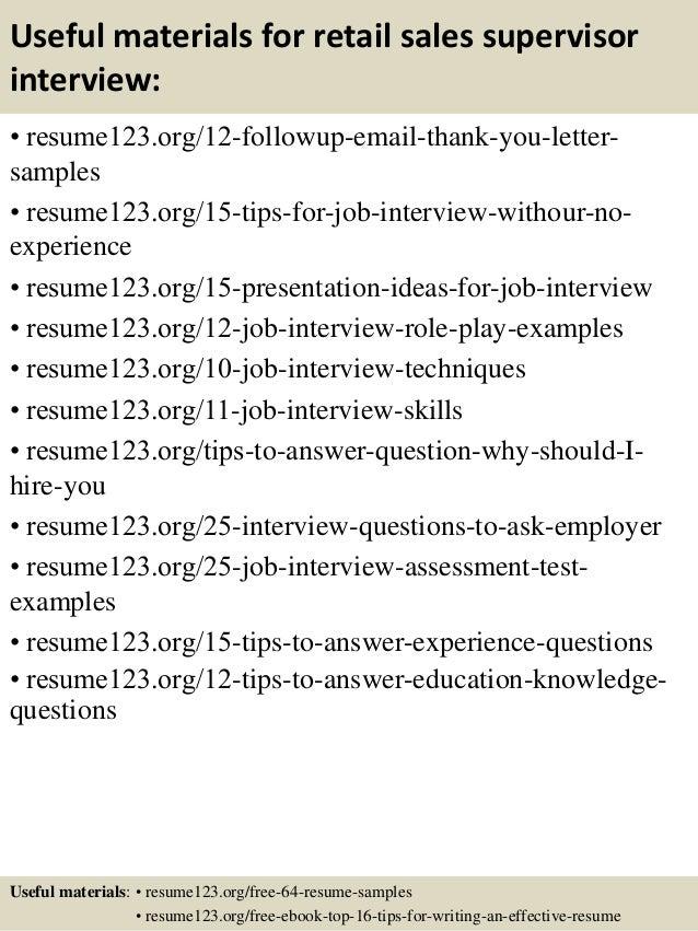 Sales Supervisor Resumes - Vosvete.Net
