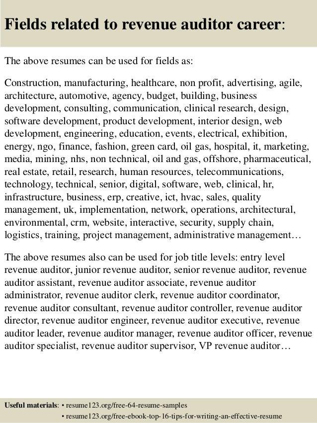 Top 8 Revenue Auditor Resume Samples