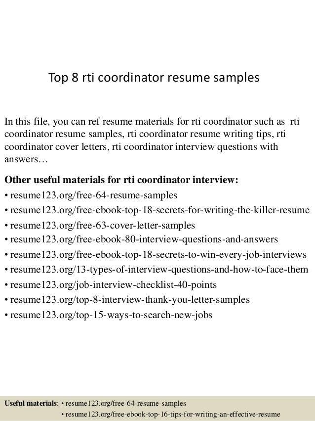 Top 8 rti coordinator resume samples 1 638gcb1431526100 top 8 rti coordinator resume samples in this file you can ref resume materials for spiritdancerdesigns Gallery
