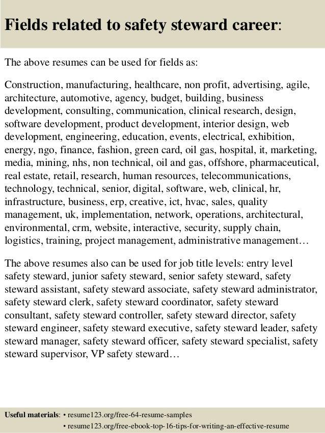 16 - Chief Steward Resume