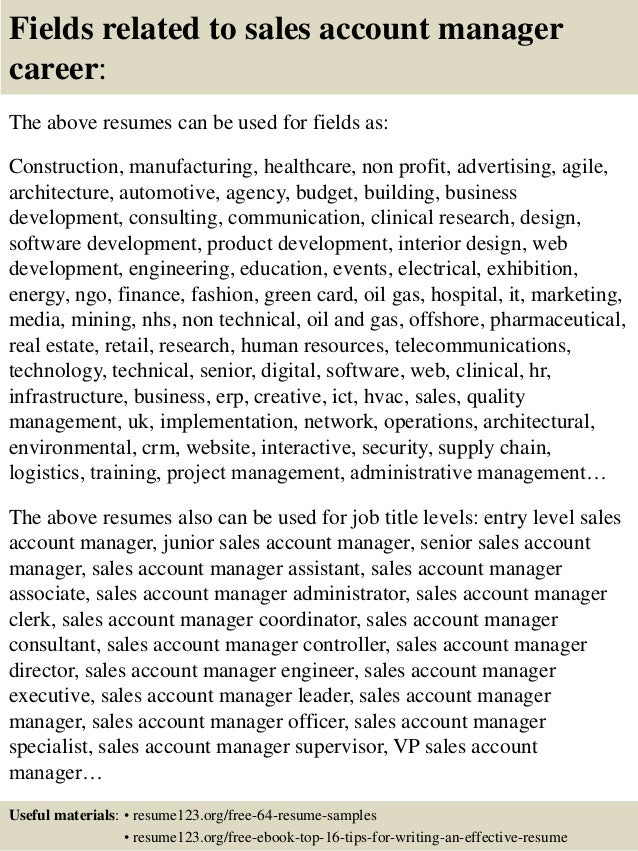 Best Sales Manager Resume Account Manager Sales Representative Jobs In  Greer SC CareerBuilder Example Resume Account  Resume For Account Manager