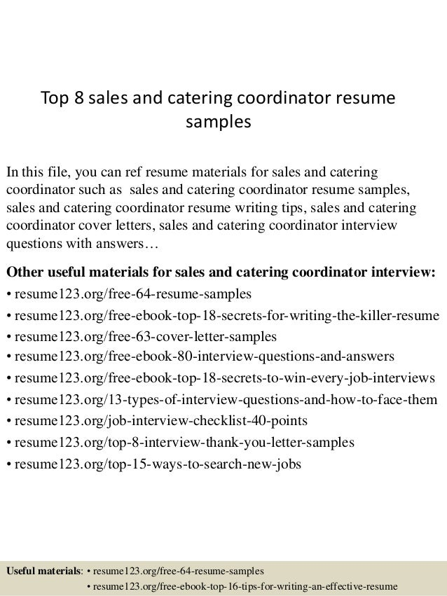 Caterer Resume Catering Sales Manager Cover Letter Faxing Cover Letter Oil  Rig Catering Sales Manager Resume