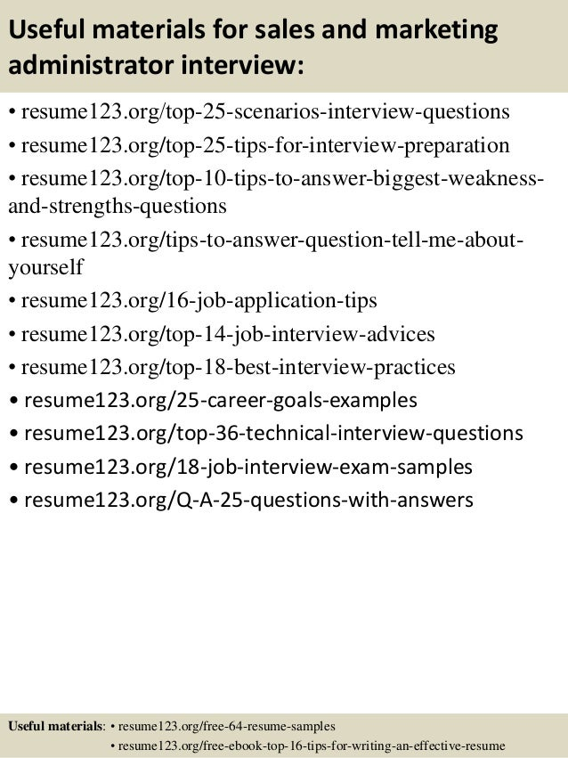 top 8 sales and marketing administrator resume sles