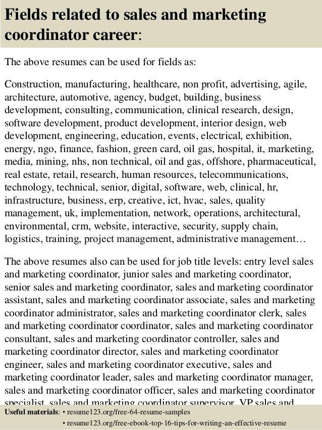 marketing coordinator resumes
