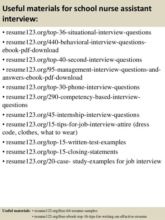 Top 8 school nurse assistant resume samples – Nurse Assistant Resume