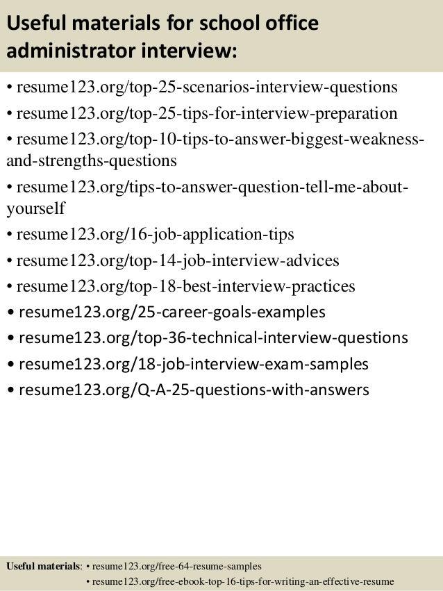 Top 8 school office administrator resume samples