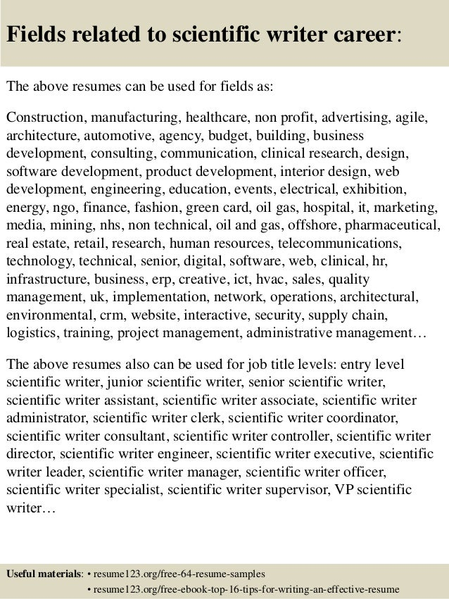 16 fields related to scientific