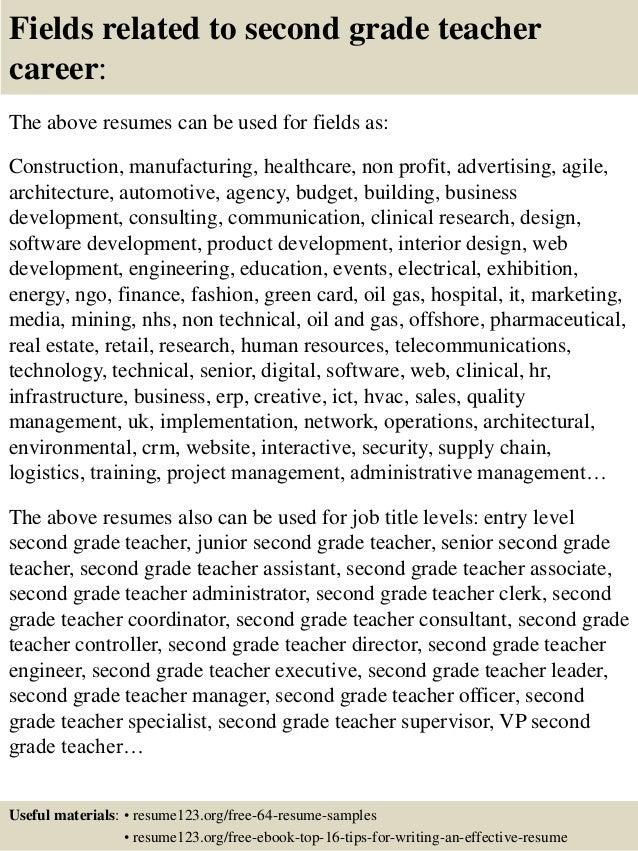 ... 16. Fields Related To Second Grade Teacher ...