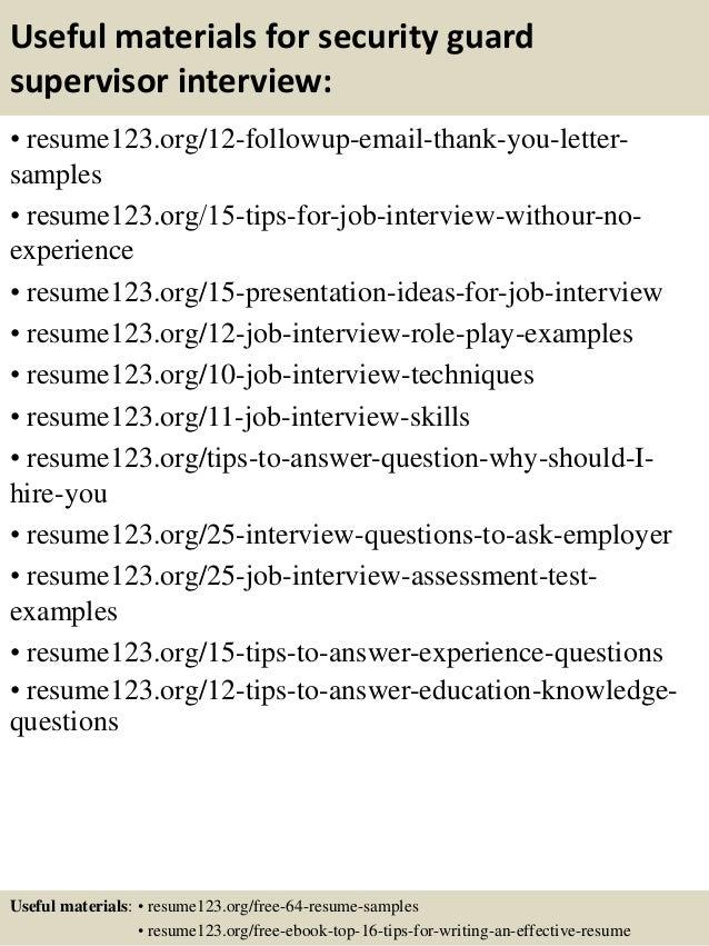 Resume Security Officer - Contegri.com