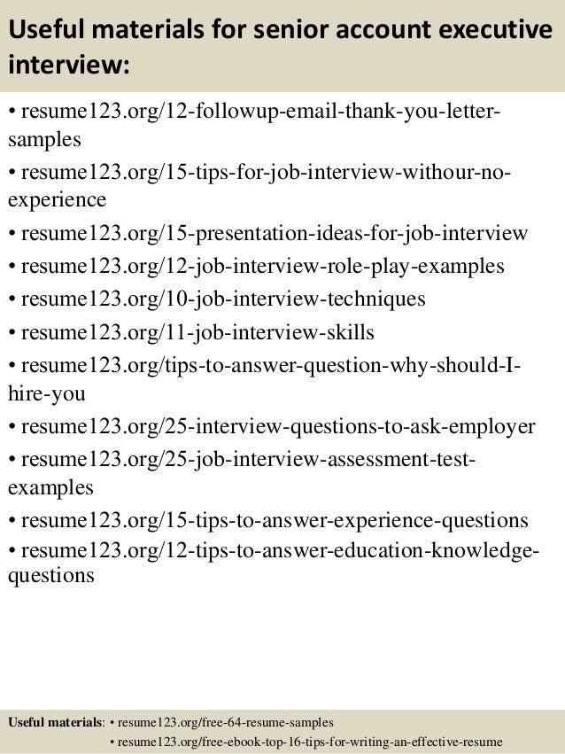 14 useful materials for senior account executive - Account Executive Sample Resume
