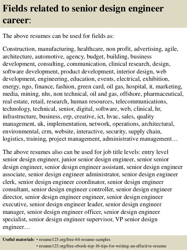 Sample Resume For Design Engineers frizzigame