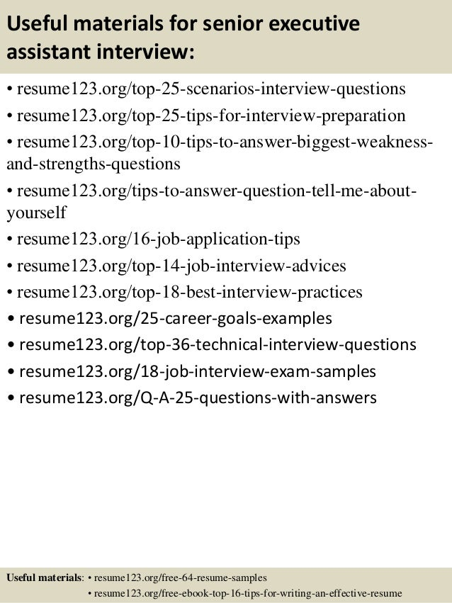 Write A Senior Level Executive Administrative Assistant Resume Objective  Examples  Senior Executive Assistant Resume