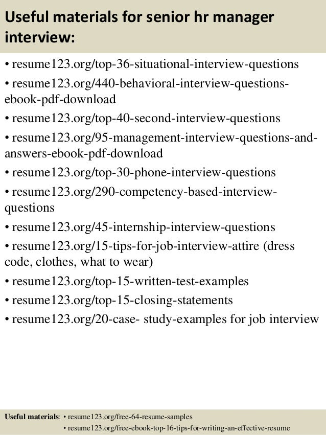 ... 12. Useful Materials For Senior Hr Manager ...  Hr Manager Resume Examples