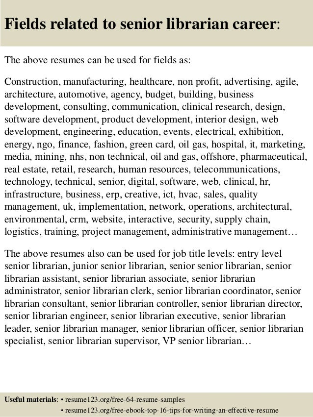 16 librarian resume examples