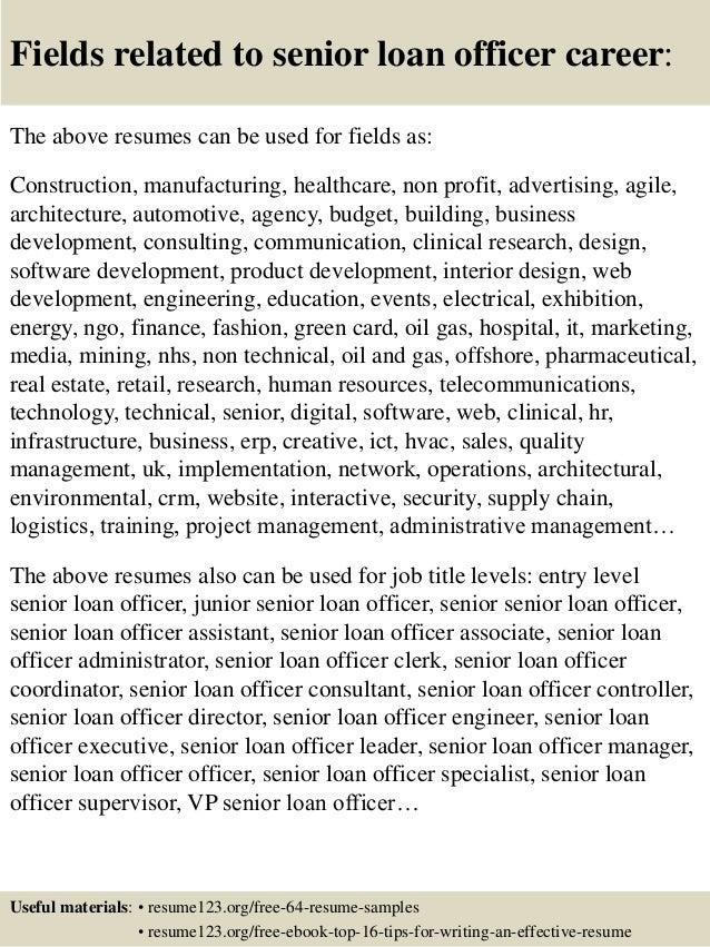 Delightful ... 16. Fields Related To Senior Loan Officer ...