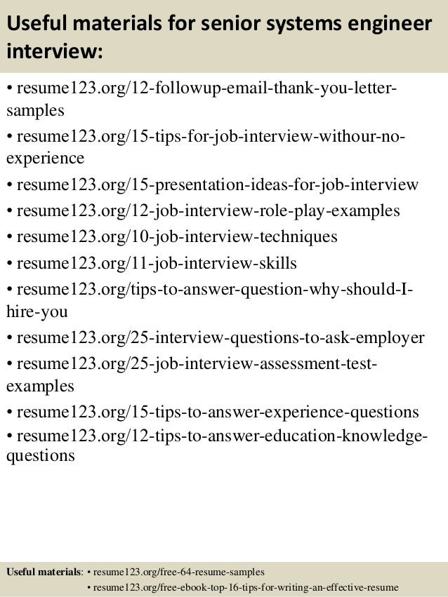 Senior Systems Engineer Resume Example Vosvetenet – System Engineer Resume Example