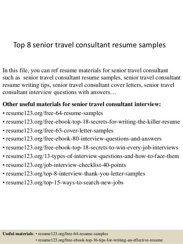 Resume Examples Travel Consultant
