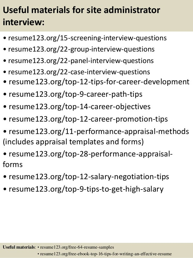 15 useful materials for site - Resume Site
