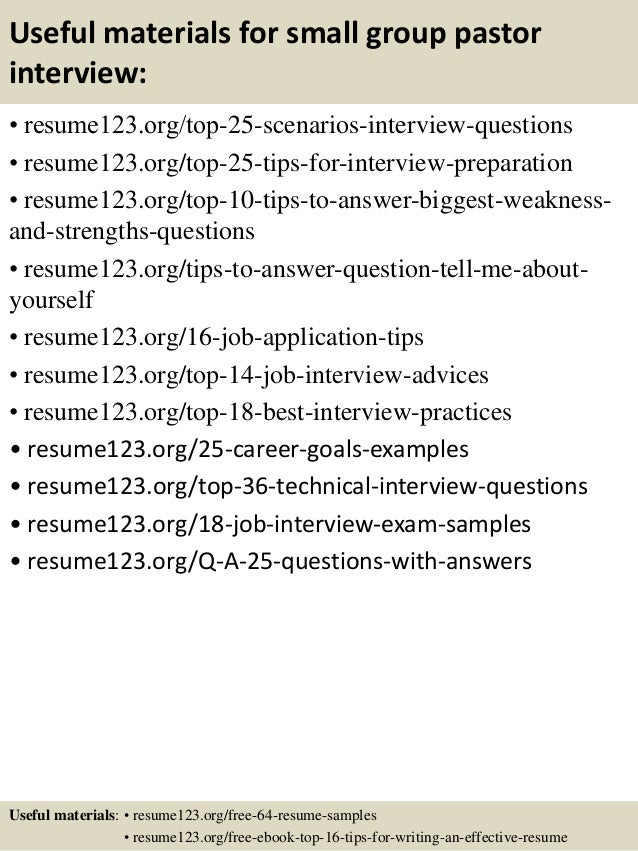 13 - Sample Pastoral Resume