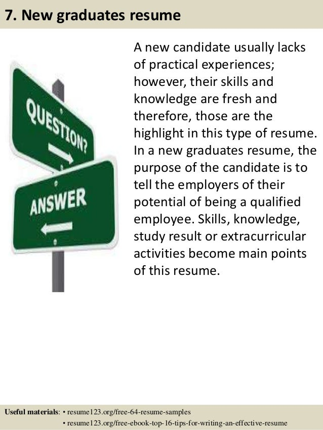10 - Effective Resume Samples