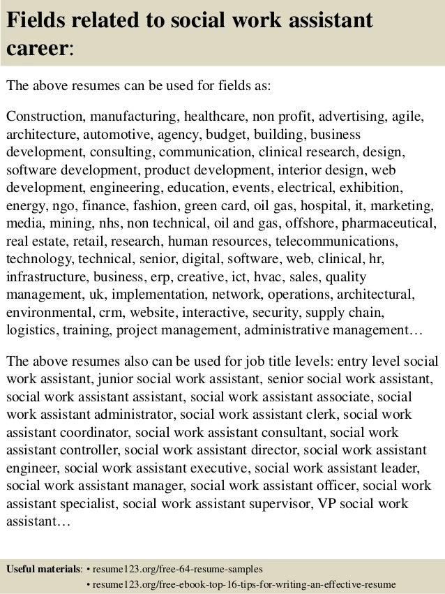 social work sample resumes