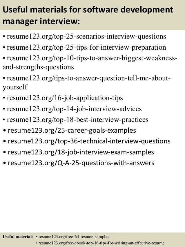 13 useful materials for software development manager - Software Development Manager Resume