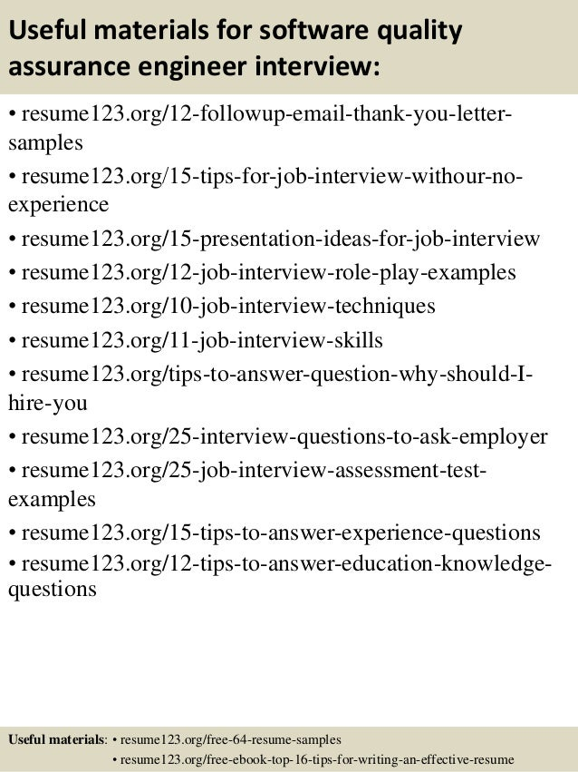 qa resume sample resume format download pdf - Sample Resume Of Software Quality Engineer