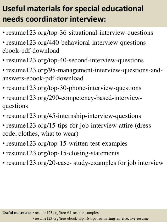 Top 8 Special Educational Needs Coordinator Resume Samples