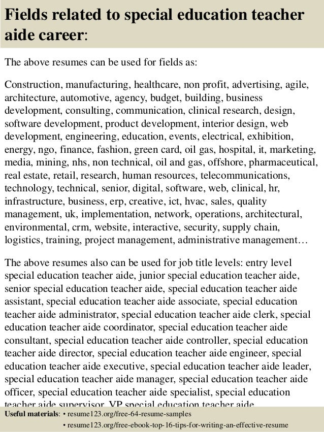 Https://image.slidesharecdn.com/top8specialeducati...  Special Education Resume
