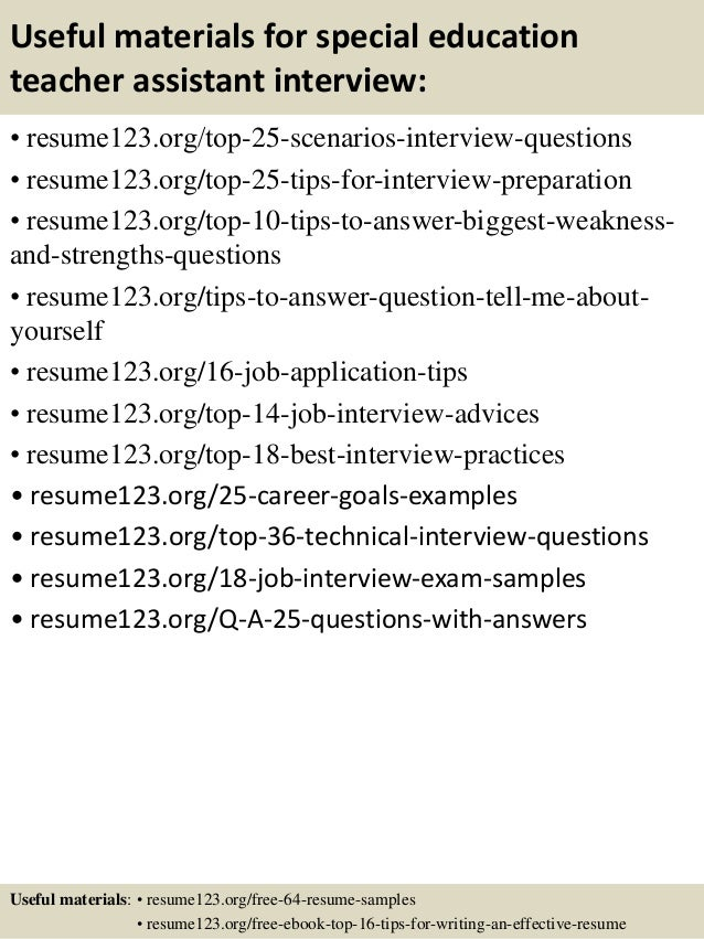 special education instructional assistant sample resume special