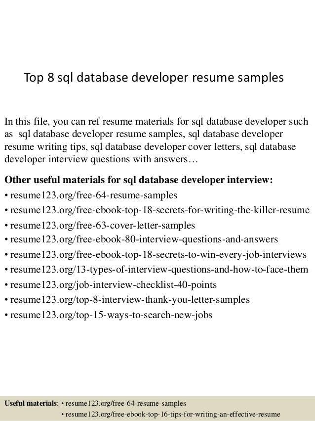 Dreamworld Resume Database Developer Sql put the