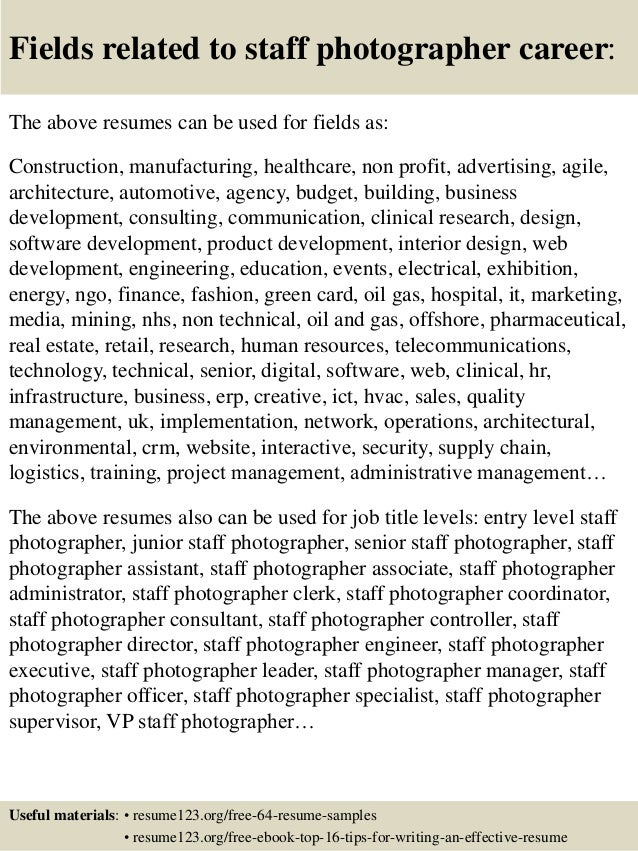 photographer resumes