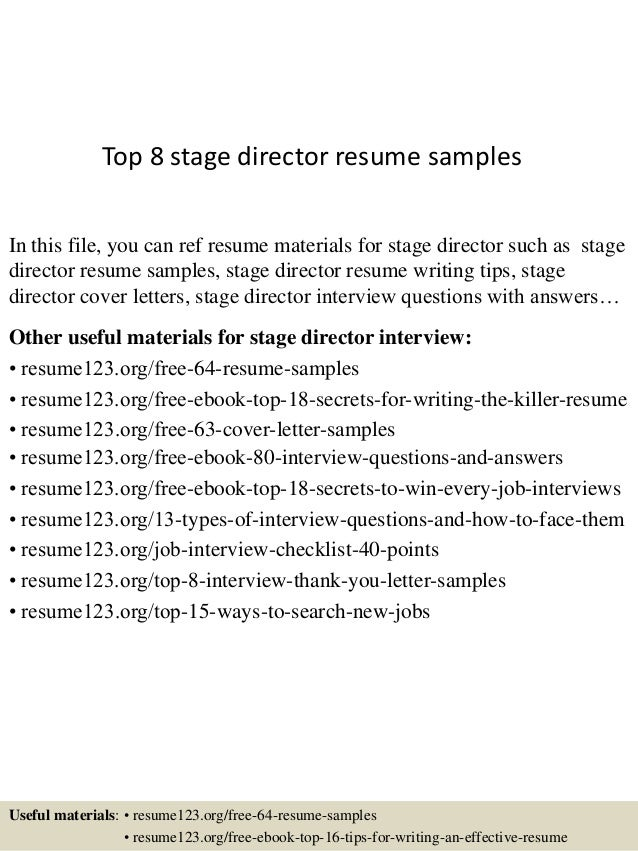 top 8 stage director resume samples 1 638 jpg cb 1431331407