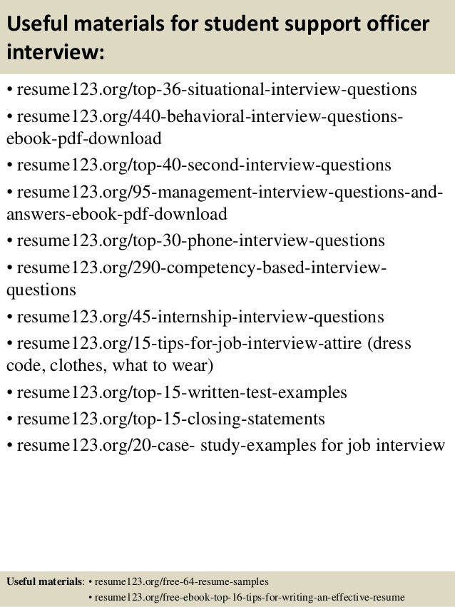 Top 8 student support officer resume samples – Sample Resume Student