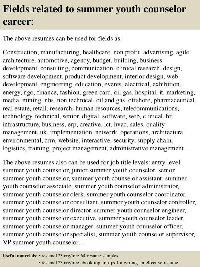 Youth Counselor Resume Sample - Duevia.com