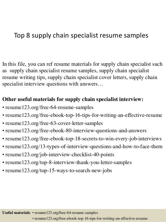 Topsupplychainspecialistresumesamplesjpgcb - Resume format for supply chain management